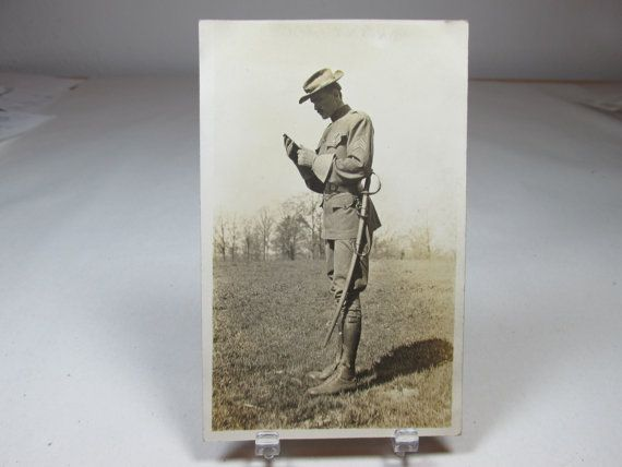 Vintage Military Uniform WWI Real Photo by collectingbugbytes