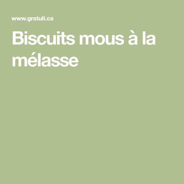 Biscuits mous à la mélasse