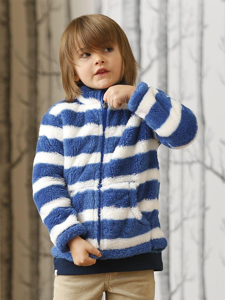 So fuzzy and warm  #Hatley #kidsfashion #stripes