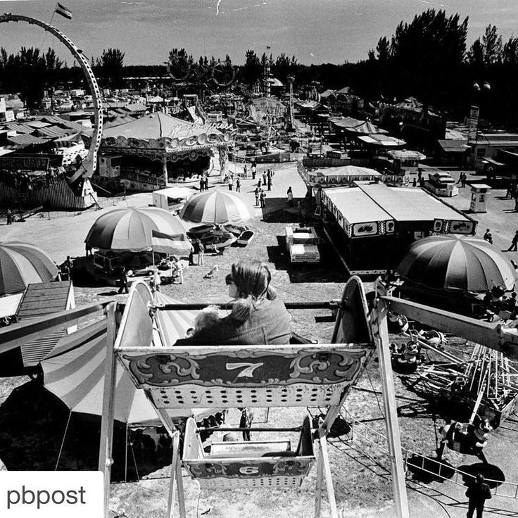 #ThrowbackThursday  A view of the South Florida Fair from the ferris wheel on Jan. 30 1978  looks quite a bit different now doesnt it?  The Palm Beach County Fair started in March 1912 a four-day event under a single tent of the grounds of the then-county courthouse. For the next 45 years it jumped to different locations including the National Guard Armory and Morrison Field (now PBIA). The fair opened on its present grounds in 1958 and in 1960 it was renamed the South Florida Fair.  The…