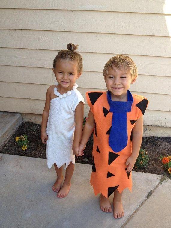 Disfrazarse por parejas niños. Disfraz infantil los picapiedra