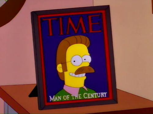 ¿Flanders el Hombre del Siglo? ¡Debió ser un siglo muy malo!.- Homero