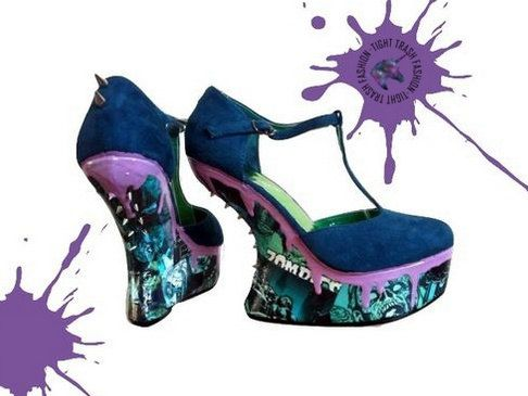 Create your own shoes - Decoupage shoes - Custom shoes -  Zombie shoes - Sugar skull shoes - Alice in wonderland shoes - Cat shoes - Heels. by TightTrash on Etsy https://www.etsy.com/listing/255126582/create-your-own-shoes-decoupage-shoes