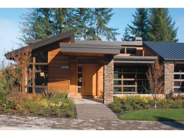 Best Contemporary Craftsman Homes Images On Pinterest - Contemporary craftsman ranch house plan