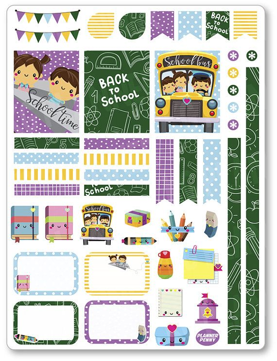 Trasera Kit de decoración de escuela / semanal por PlannerPenny