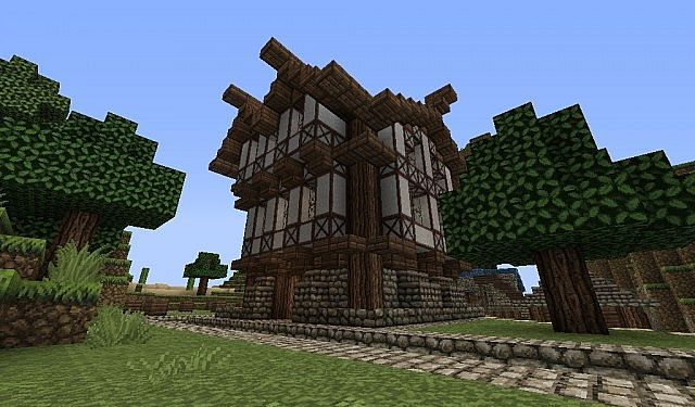 Minecraft medieval Library Minecraft Project