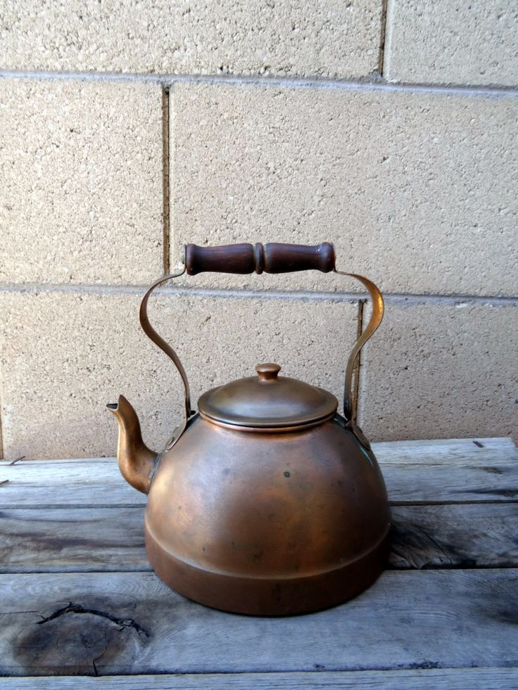 Vintage Copper Kettle, Made In Portugal.  Rustic Mediterranean Kitchen by TiesofMyFather on Etsy