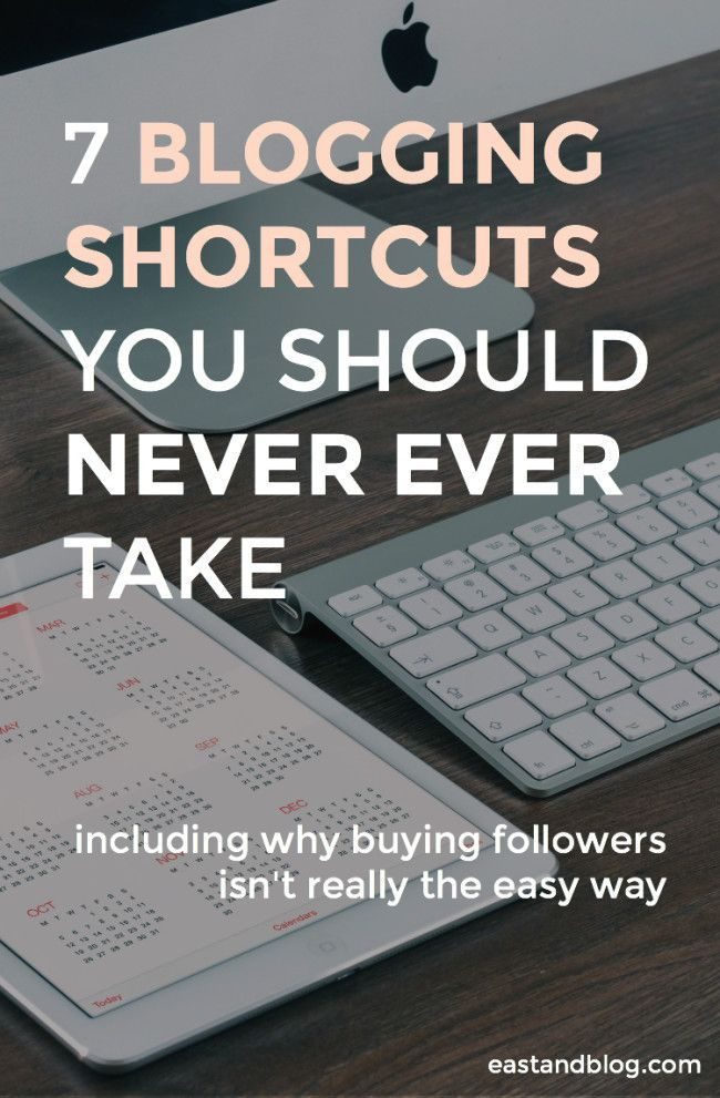 There are many blogging shortcuts you can take to make blogging faster and easier. But are those blogging shortcuts the best way to blog? | eastandblog.com