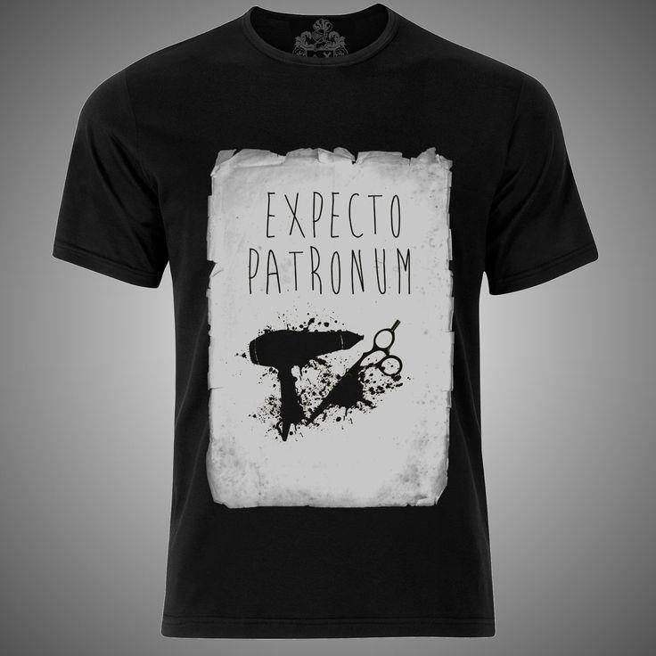 "modelo ""expecto patronum black"" hombre mujer playera moda male female t-shirt fashion"