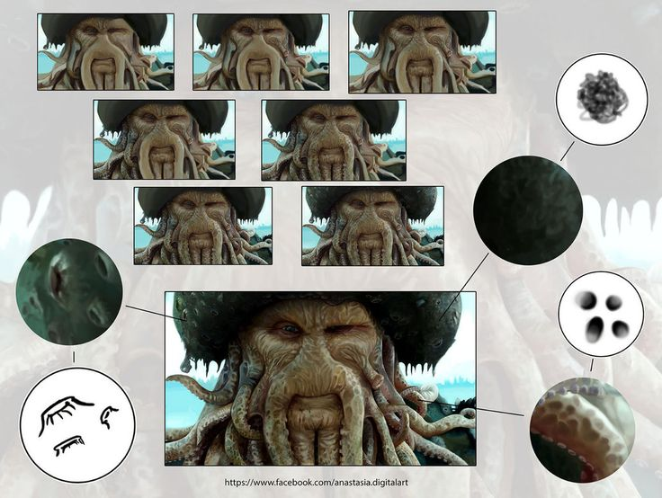 davy jones Tutorial by IAnastasiaI.deviantart.com on @DeviantArt