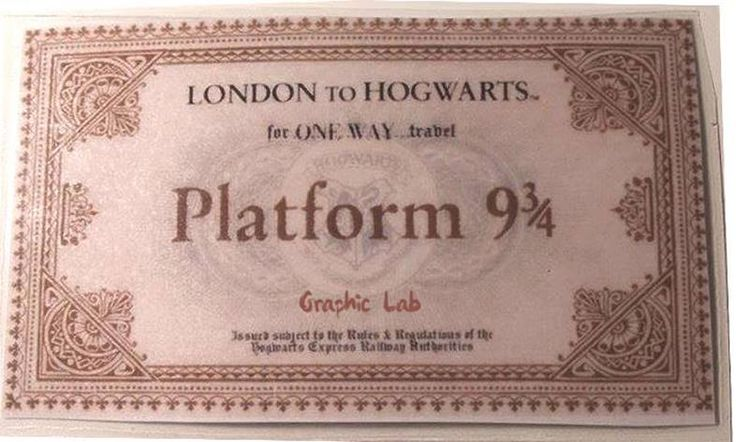 Biglietto del treno per Hogwarts.
