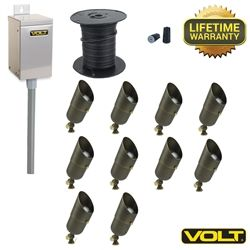 Brass LED Landscape Lighting Kits | Outdoor Lighting | VOLT®