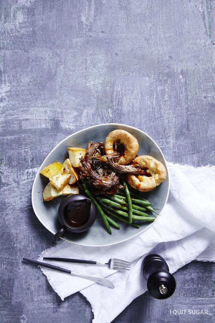 Sunday Roast with the Mostest - Winter. A Sunday roast with all the trimmings - beef, veg and rich gravy. YUM! What a scrumptious dinner? – I Quit Sugar