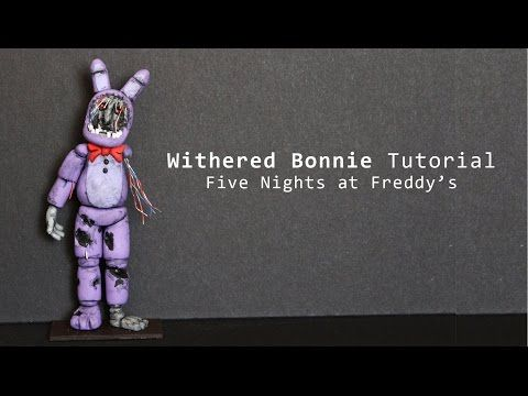 Withered Bonnie from Five Nights at Freddy's Polymer Clay Tutorial - YouTube