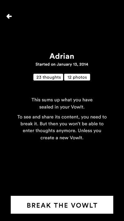 Vowlt—Private emotional memory box http://vowlt.com/