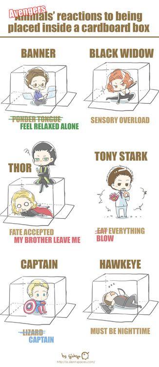 Avengers in a box! #Avengers