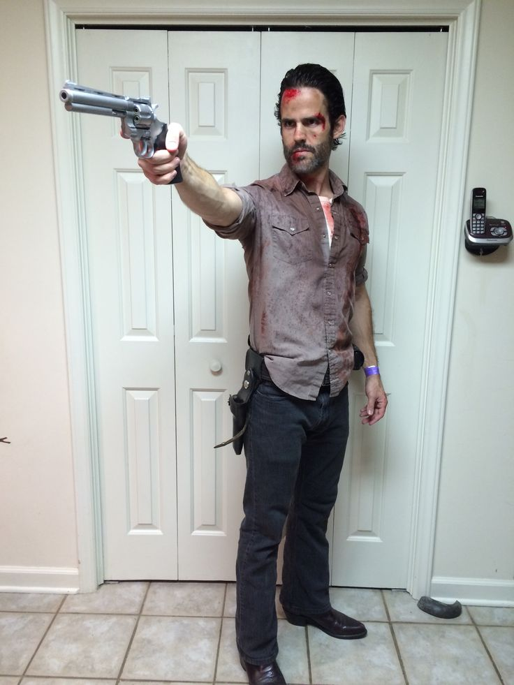 Rick Grimes cosplay Halloween 2014