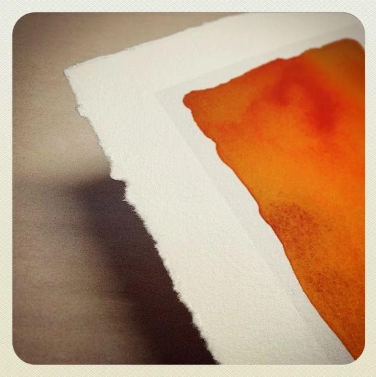 Giclée print with manual deckle edges. #giclee #print #deckle #edge #illustration #card #present #graficartprints @graficartprints