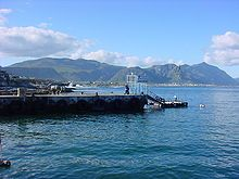 """The view from the wall of what we call the """"New"""" Harbour (and yes there is an """"Old"""" Harbour).  Hermanus - Wikipedia, the free encyclopedia"""