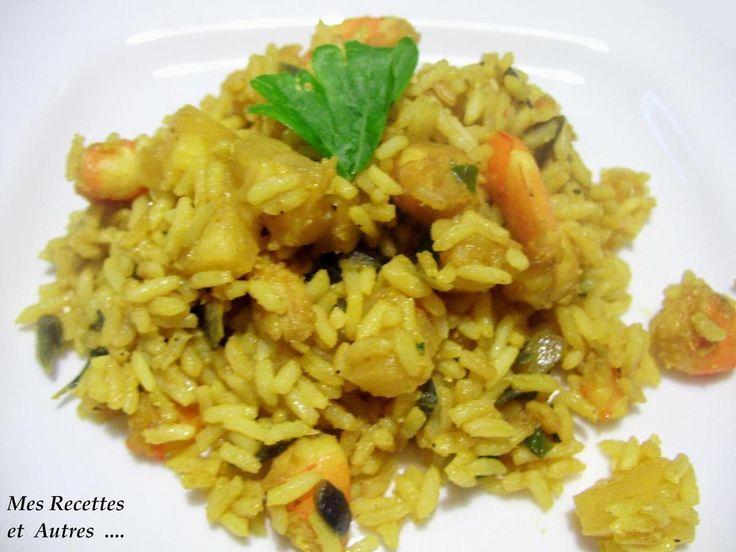 Curry d'Ananas et Crevettes