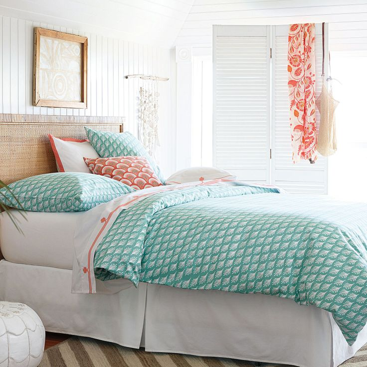 Beachy bedding from Serena  Lily