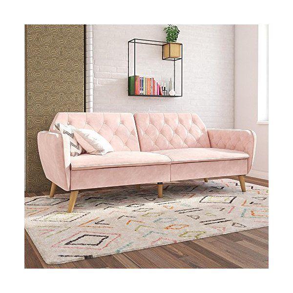 Check Out Novogratz Tallulah Memory Foam Futon Multi Functional Classic Vintage Design Pink Velvet Vintage Velvet Sofa Fun Living Room Furniture Futon