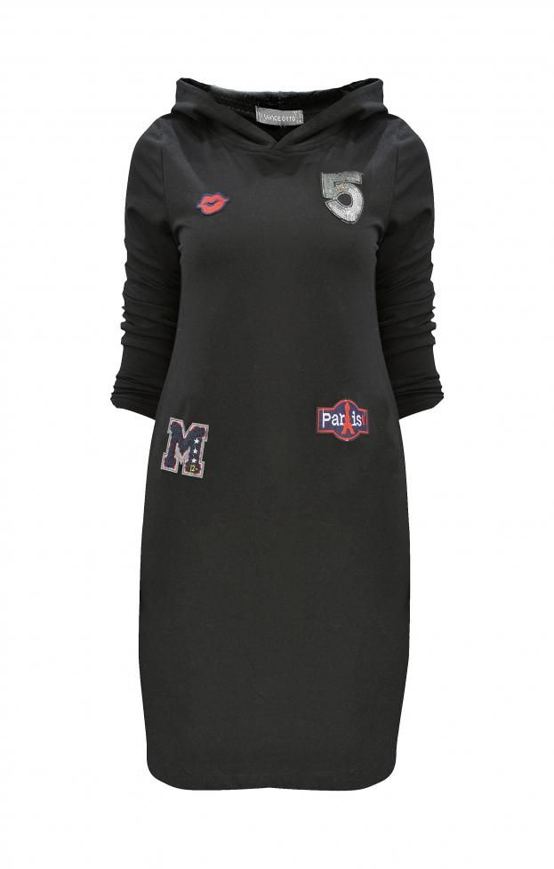 Γυναικείο φόρεμα φούτερ με κουκούλα  FORE-2252