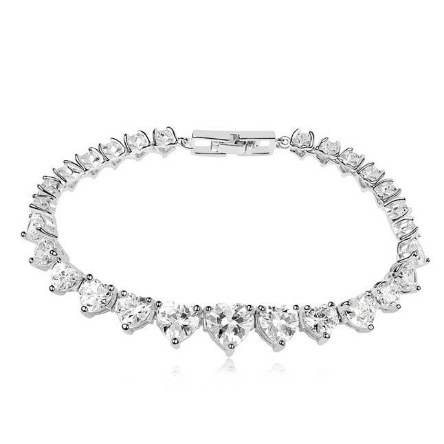 Мода серебро хамса сглаза браслет с камнями белый позолоченный серебряный браслет из в форме сердца бриллиантовый браслет ювелирные изделия оптовая продажа