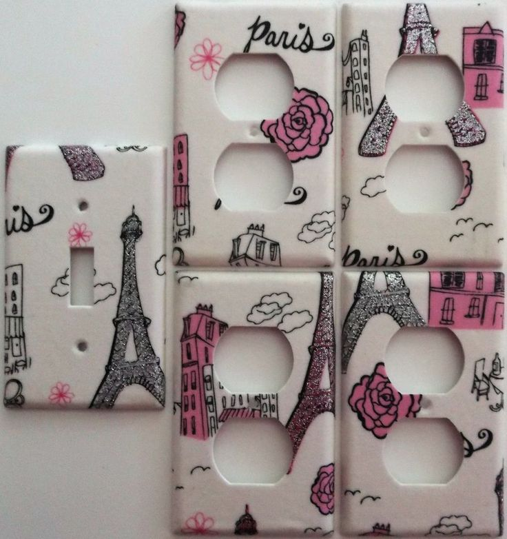 Paris Eiffel Tower Pink Glitter light switch cover Girls Bedroom wall decor set | Home & Garden, Home Improvement, Electrical & Solar | eBay!