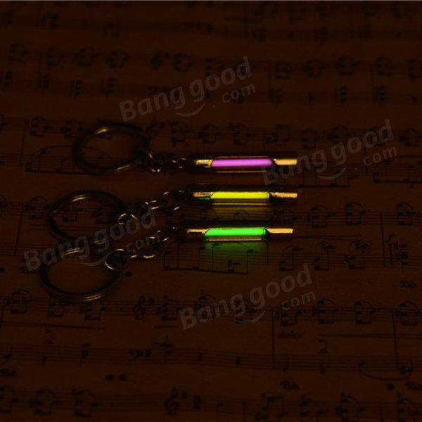Cylindrical Metal Keychain With 15Years Self-Luminous 3x22.5mm Tritium Sale - Banggood.com  flashlight light