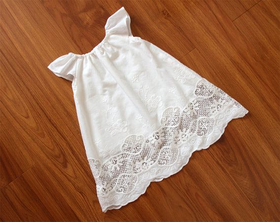 Long Cream White Baby Girl Baptism Dress Gown by lonymaids on Etsy