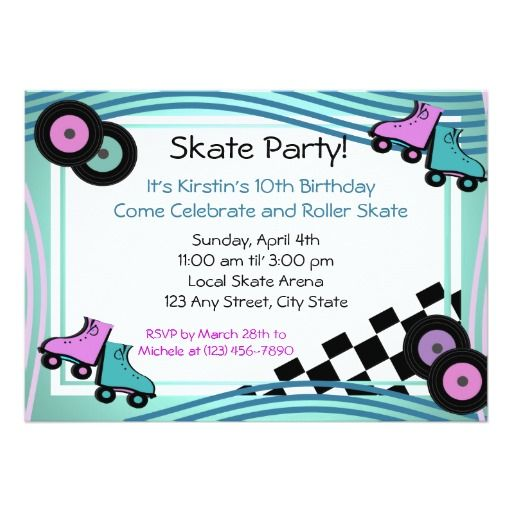 436 best Roller Skating Birthday Party Invitations images on