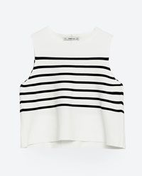 STRIPED TOP-View all-WOMAN-NEW IN | ZARA Canada