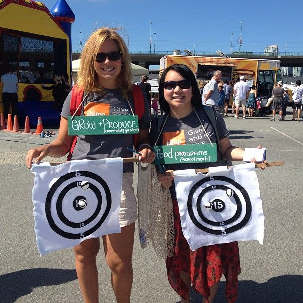 Our volunteer team is at #foodcartfest for The Hungry Games Part 2. Come take aim at us! #charity
