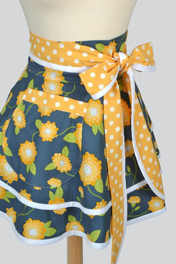 Womens Waist Aprons . Cute Flirty Full Retro by CreativeChics