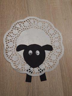 Kleines Schaf basteln. Super für kleine Kinder #frühling #basteln