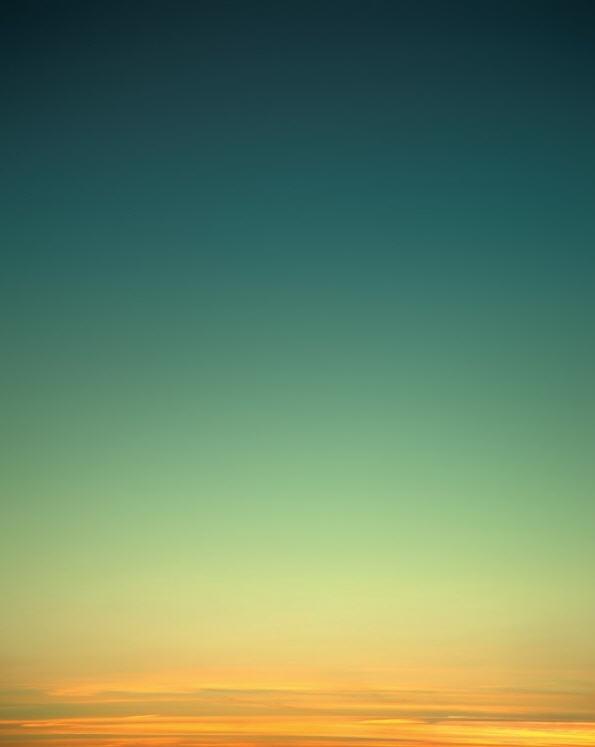Sunset of gold, seafoam & aqua | By Eric Cahan
