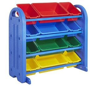 ECR4Kids 4 Tier Plastic Storage Organizer with Bins - http://babyentry.com/baby/ecr4kids-4-tier-plastic-storage-organizer-with-bins-com/