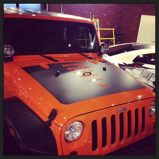 Jeep Hood Vinyl Wrap With Morpar Decal Wrapdetroit