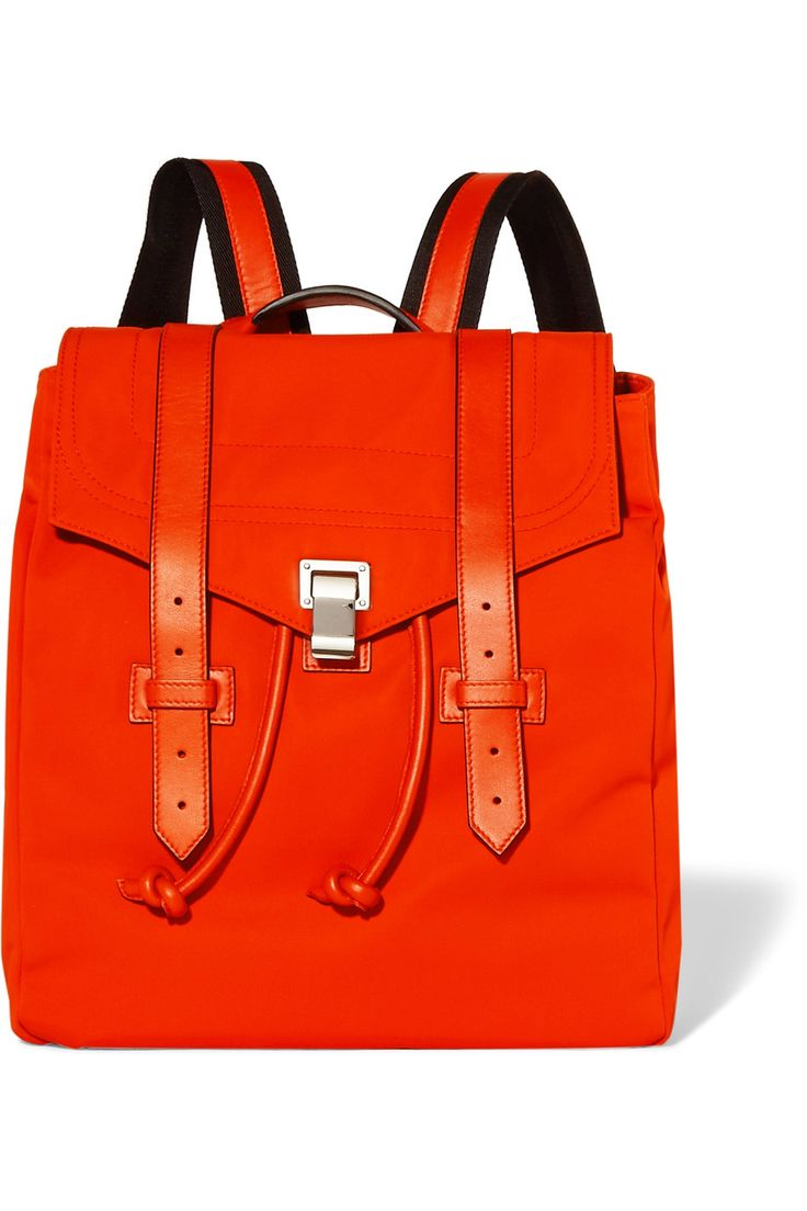 Shop on-sale Proenza Schouler PS1 leather-trimmed canvas backpack. Browse other discount designer Backpacks & more on The Most Fashionable Fashion Outlet, THE OUTNET.COM
