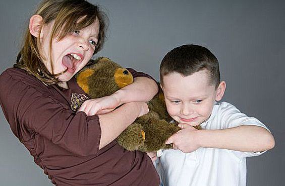 As soon as the toddler makes his first independent steps in his life begin to happen quarrels with other kids.