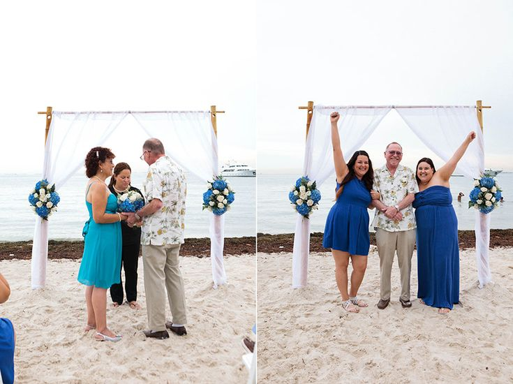 Small Beach Wedding In Miami Florida All Fl Decor Bamboo Arbor Officiant And Photography By Weddings Www Smallmiamiweddings C