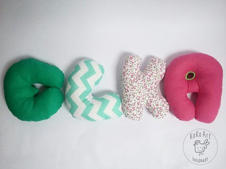 cotton letters  #cotton #letters #handmade #handmadetoys #kokoart #kidsroom