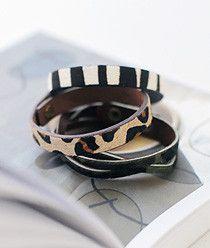 Simple & Twist Leather Bracelet
