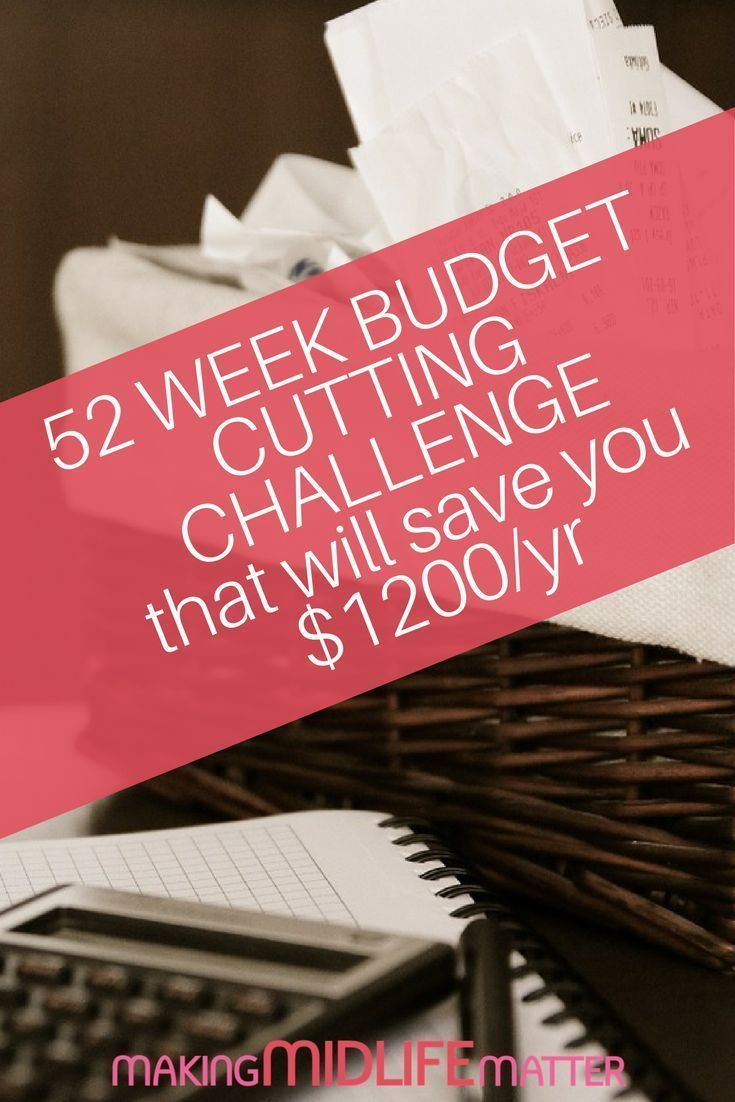 Budget Tips. Saving money is easier than you think. 52-week money saving challenge + Tips to save money and cut expenses. via @makingmidlife