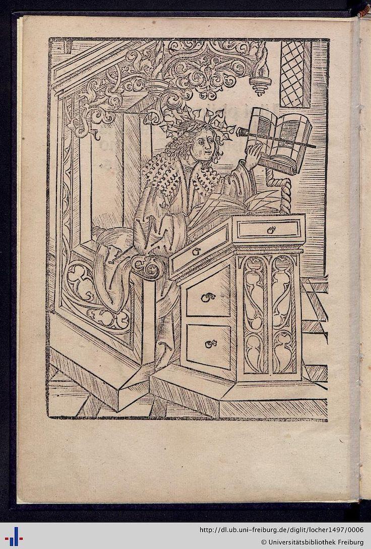 Locher, Jakob; Zasius, Ulrich [Bearb.]: Panegyrici ad Maximilianum (Straßburg, 1497 [GW M18631] [Sack 2264]) (UB Freiburg, Ink. D 8713) - Freiburger historische Bestände - digital - Universitätsbibliothek Freiburg
