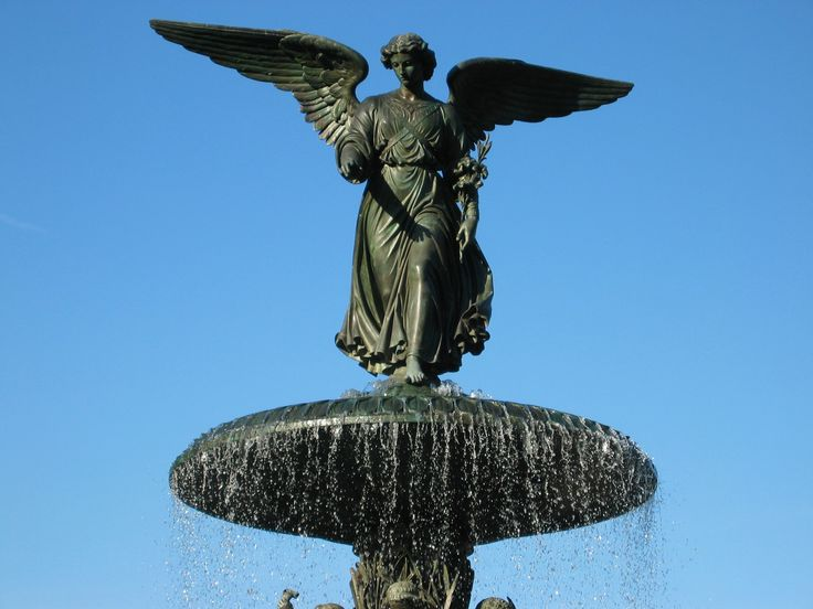 Angel of the Waters in NYC's Central Park.: Water Fountain, Nyc Central, Nycth Cities, Central Parks, Angel Art, Favorite Nyc, Parks Angel, Nyc Art, Nyc Th Cities