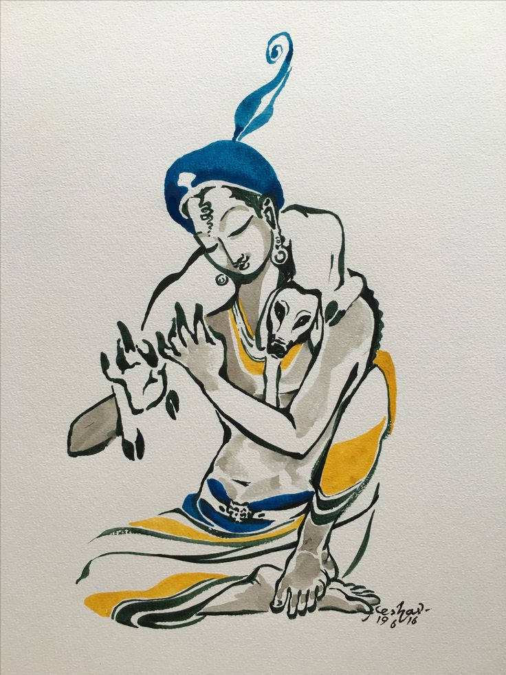 Vaatsalya. #watercolor #krishnafortoday