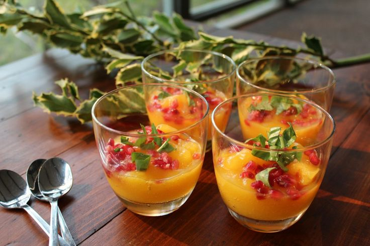 Mango & Lime Sorbet with Pomegranate & Mint