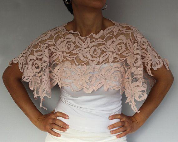 Cotton Lace Bridal Shrug Mini Chic White by MammaMiaBridal on Etsy, $37.00